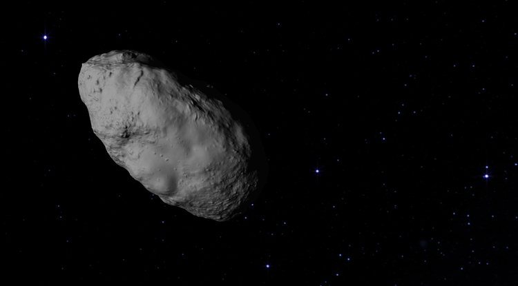 Bennu is among millions of primitive asteroids composed of molecules that may have been the precursors to life on Earth.  Image Credit: NASA's Goddard Space Flight Center Conceptual Image Lab