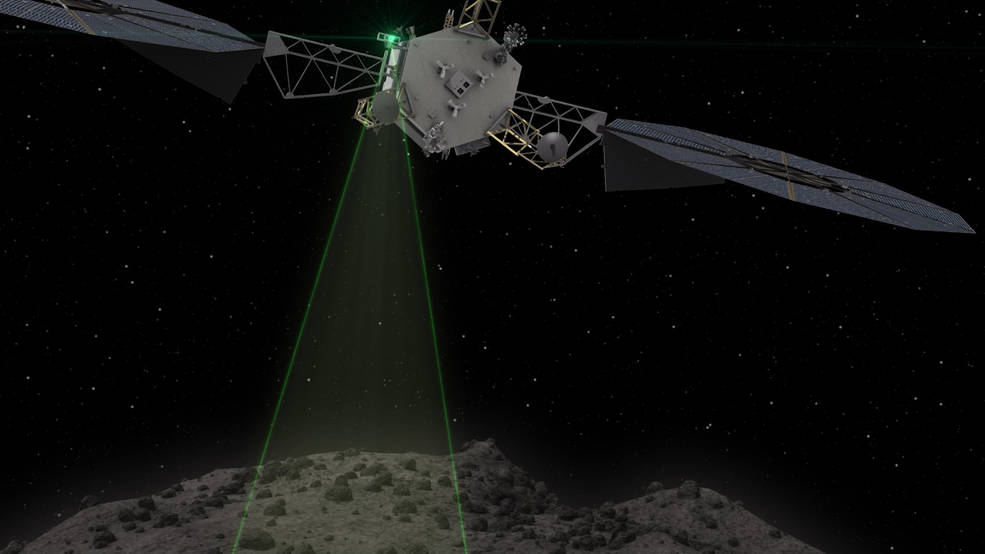 This graphic depicts the Asteroid Redirect Vehicle conducting a flyby of its target asteroid. During these flybys, ARM would come within 0.6 miles (1 kilometer), generating imagery with resolution of up to 0.4 of an inch (1 centimeter) per pixel. Image Credit: NASA